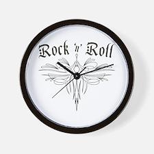 Rock n Roll Stripe Wall Clock