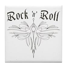 Rock n Roll Stripe Tile Coaster