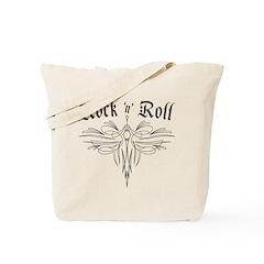 Rock n Roll Stripe Tote Bag