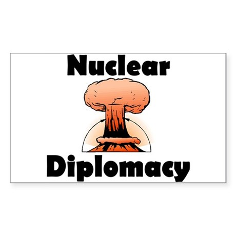 Nuclear Diplomacy Rectangle Sticker
