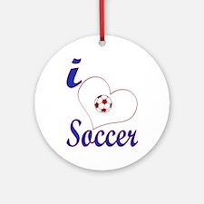 I Love Soccer Keepsake (Round)