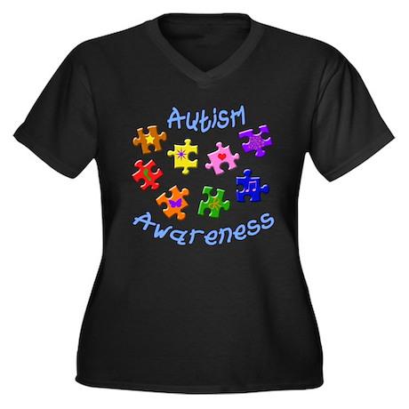 Autism Awareness Women's Plus Size V-Neck T-Shirt