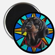 Dachshund w/stained glass design Magnet