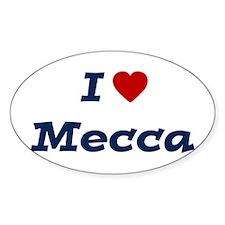 I HEART MECCA Oval Decal