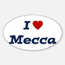 I HEART MECCA Oval Decal