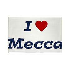 I HEART MECCA Rectangle Magnet