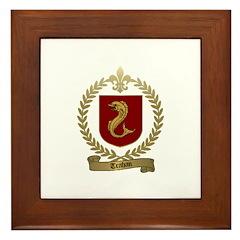 TRAHAN Family Crest Framed Tile