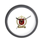 TRAHAN Family Crest Wall Clock