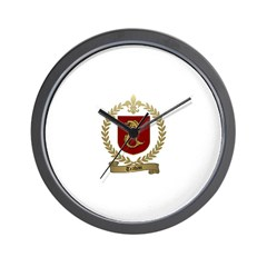 TRAHAN Family Crest Wall Clock