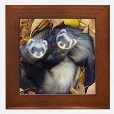 Autumn Ferrets Framed Tile