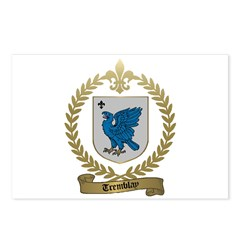 TREMBLAY Family Crest Postcards (Package of 8)