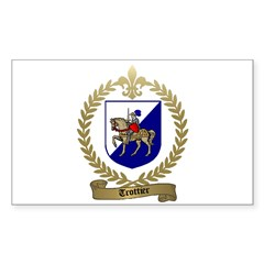 TROTTIER Family Crest Rectangle Decal