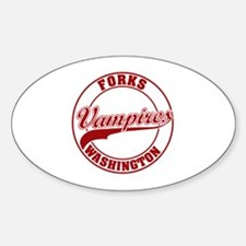 Vampires Forks, WA Oval Decal
