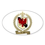 TRUDEL Family Crest Oval Sticker