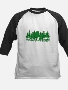 Trees Kids Baseball Jersey