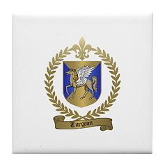 TURGEON Family Crest Tile Coaster