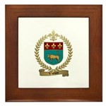 VACHON Family Crest Framed Tile