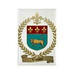 VACHON Family Crest Rectangle Magnet