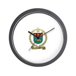 VACHON Family Crest Wall Clock