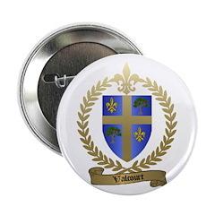 VALCOURT Family Crest Button