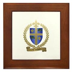 VALCOURT Family Crest Framed Tile