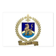 VILLERAY Family Crest Postcards (Package of 8)