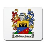 Aleksandrov Family Crest Mousepad