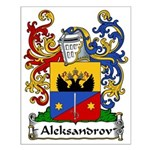 Aleksandrov Family Crest Small Poster