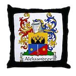 Aleksandrov Family Crest Throw Pillow