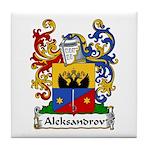 Aleksandrov Family Crest Tile Coaster