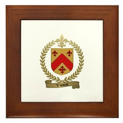 VINCENT Family Crest Framed Tile