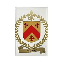 VINCENT Family Crest Rectangle Magnet (100 pack)