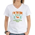 Portuguese Pointer Women's V-Neck T-Shirt