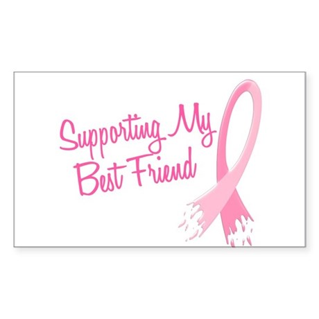 Supporting My.....Breast Cancer Sticker (Rectangle