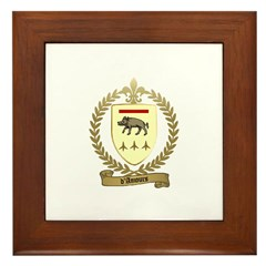 D'AMOURS Family Crest Framed Tile
