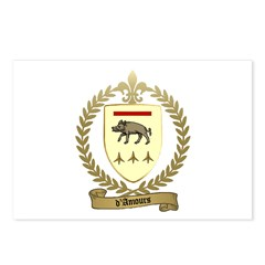 D'AMOURS Family Crest Postcards (Package of 8)