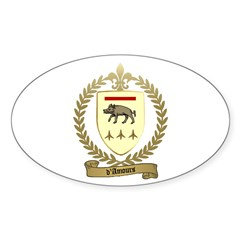 D'AMOURS Family Crest Oval Decal