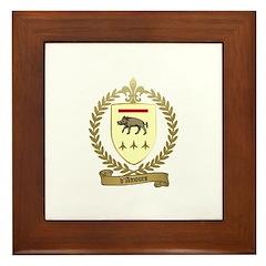 D'AMOURS Acadian Crest Framed Tile