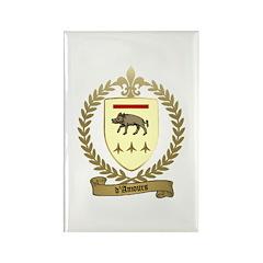 D'AMOURS Acadian Crest Rectangle Magnet (100 pack)