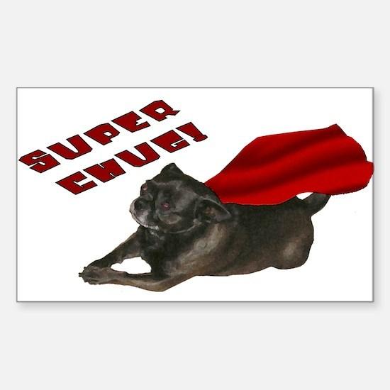 Chug, red: Rectangle Decal