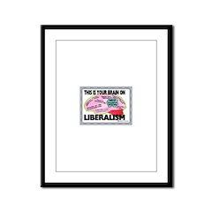 Liberal Brain Framed Panel Print