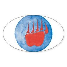 Bear Paw Oval Decal