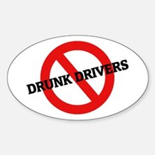 Anti-Drunk Drivers Oval Decal