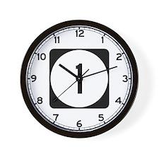 Route 1, Delaware Wall Clock