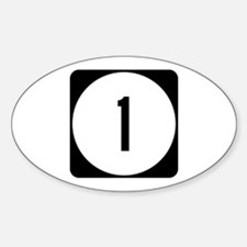 Route 1, Delaware Oval Decal