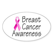 Breast Cancer Awareness 2 Oval Decal