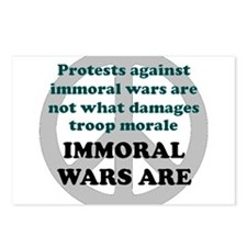 IMMORAL WARS ARE Postcards (Package of 8)