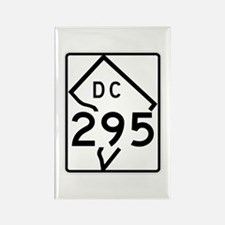 Route 295, District of Columbia Rectangle Magnet
