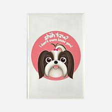 SHIH TZU? Girl Dog Rectangle Magnet