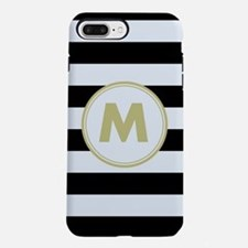 Zebra Striped Monogrammed iPhone 7 Plus Tough Case